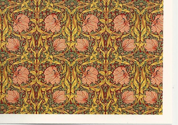 Dollhouse Miniature 1:12 Wallpaper Tulip Tapestry Green