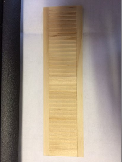 Doll House wooden shutters 1 1//4/'/' wide 4 5//8/'/' tall