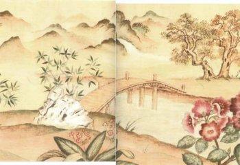 Asian Wall Mural Large IB 5147F LG 400 Miniature Dollhouses