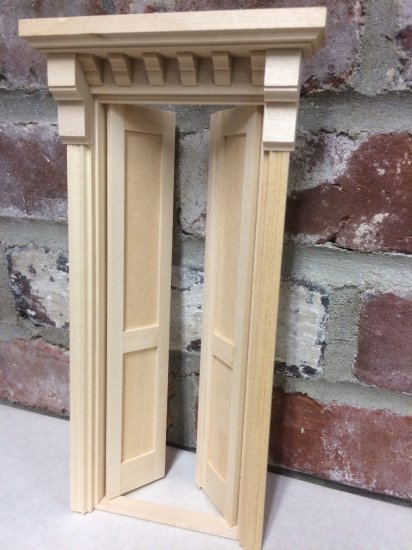 Double Victorian Flat panel wood door - Click Image to Close