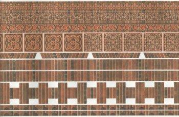 Wallpaper Embossed Old Brick Corners Tiles Wm34980 7