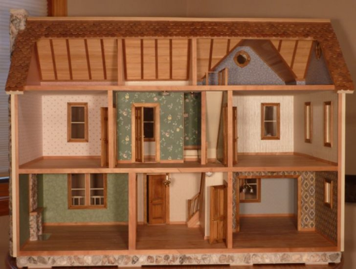 Barnstead Smooth Dollhouse Kit - Click Image to Close