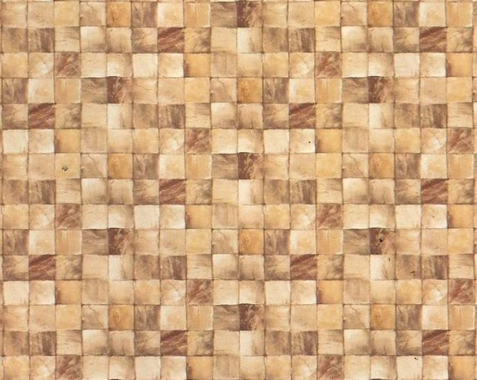 image about Printable Dollhouse Flooring known as Wallpaper: Bathtub Tiles - Beige [IB 919] - $4.00 : Miniature