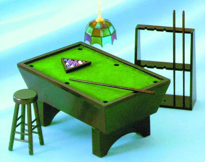 Pool Table Set Black Azt5984 Miniature Dollhouses Doll House Supplies Earth
