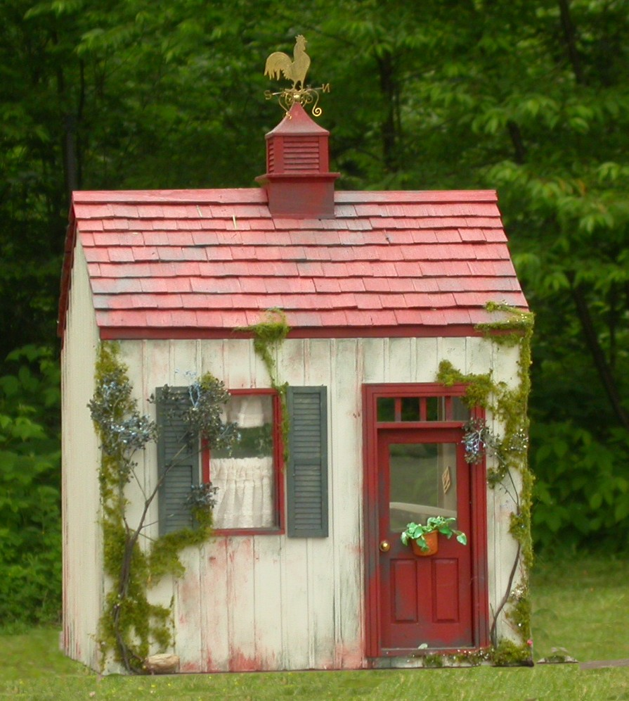 Potters place smooth dollhouse kit miniature for Mini potting shed