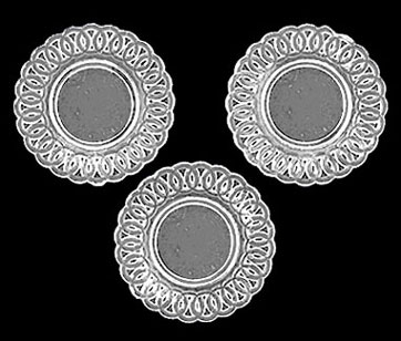 Lace-Edged Plates 3Pc Crystal Clear Plastic  sc 1 st  Earth and Tree Miniatures & Lace-Edged Plates 3Pc Crystal Clear Plastic [CB153CL] - $6.00 ...
