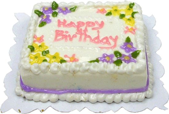 Super Floral Happy Birthday Sheet Cake Bd K2305 9 50 Miniature Personalised Birthday Cards Veneteletsinfo
