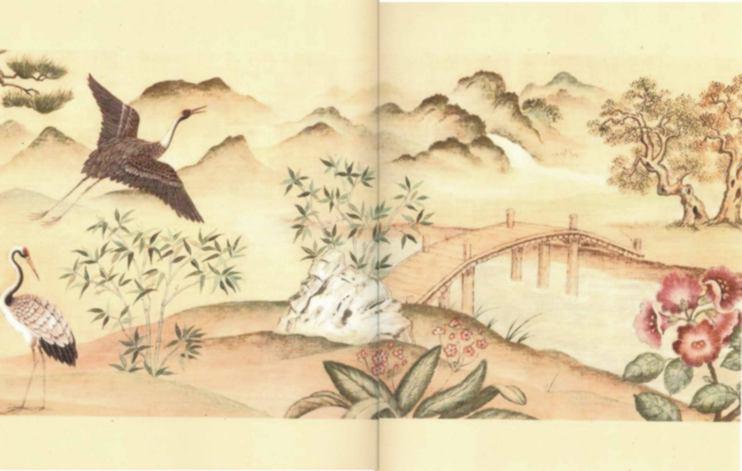 Asian Wall Mural Small [IB 5147G] - $4 00 : Miniature