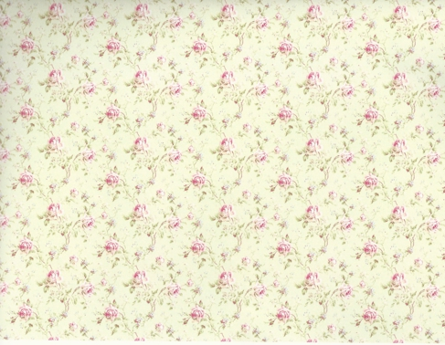 photograph relating to Printable Doll House Wallpaper identified as Wallpaper: Emma Rose inside Eco-friendly [IB 1403] - $4.00 : Miniature