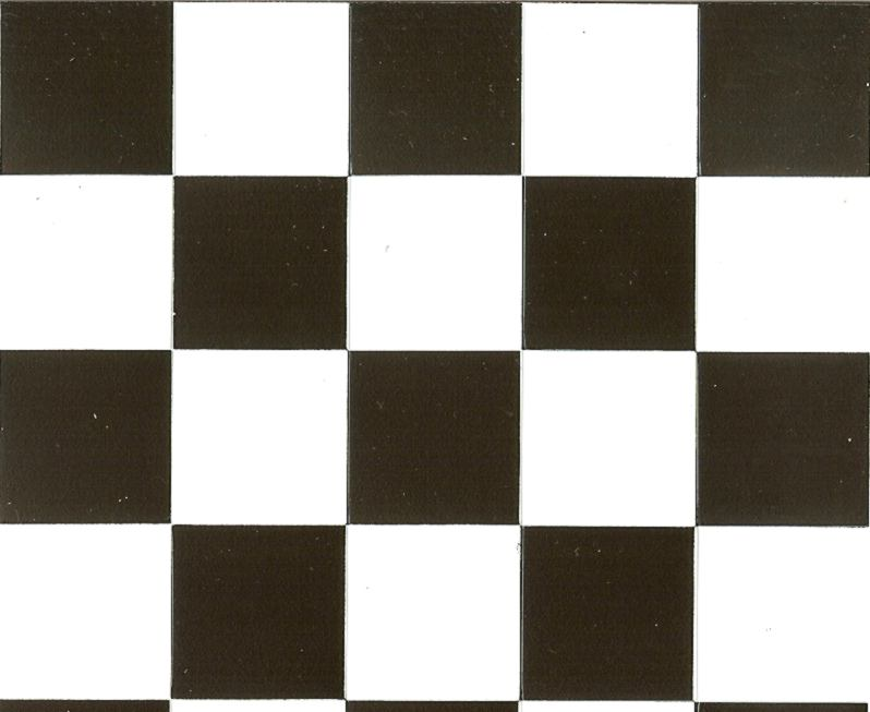 Rhombus and checkerboard miniature dollhouses doll for Black and white check floor