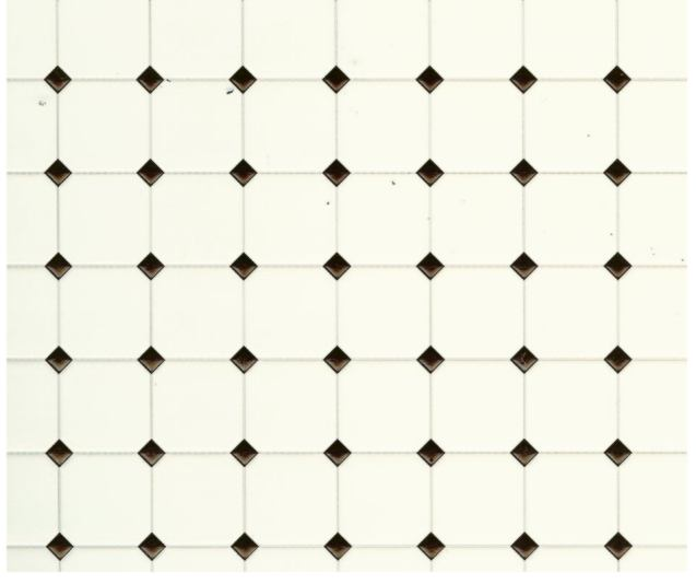 Black and White Rhombus Tile click to enlarge. Black and White Rhombus Tile  WM34363     7 50   Miniature