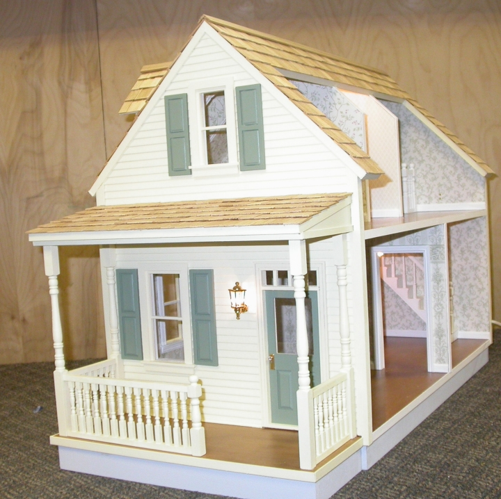 Litchfield milled dollhouse kit miniature for Kits for building a house