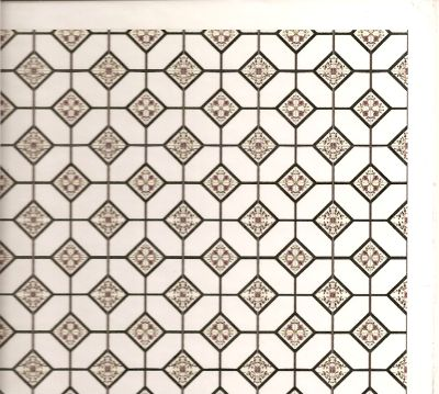 graphic regarding Miniature Dollhouse Printable Floors named Octagonal Tile surface w/ heart floral motif [OWT FL2-LG