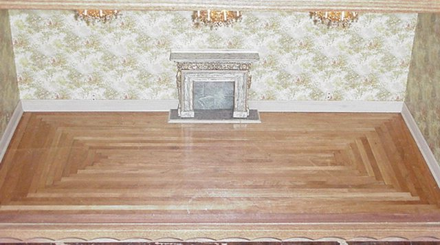 "A WOOD FLOORING 1/"" SCALE DOLLHOUSE WOOD FLOOR WB 4 DOLLHOUSE MINIATURES"