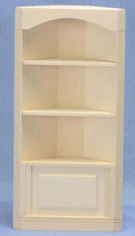 Attractive Unfinished Corner Cabinet W/ 3 Shelves