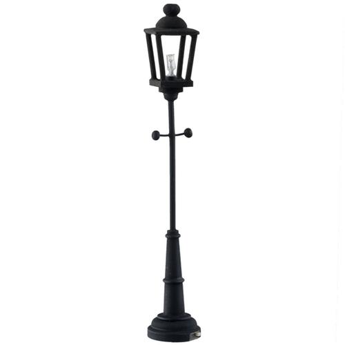 Black Yard Battery Lamp Post Hw2310 35 00 Miniature