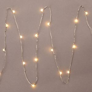 battery operated christmas lights 3 batteries not included - Christmas Lights With White Wire