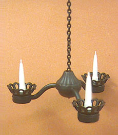 Black wrought iron candle chandelier mul5353 Hanging candle chandelier non electric